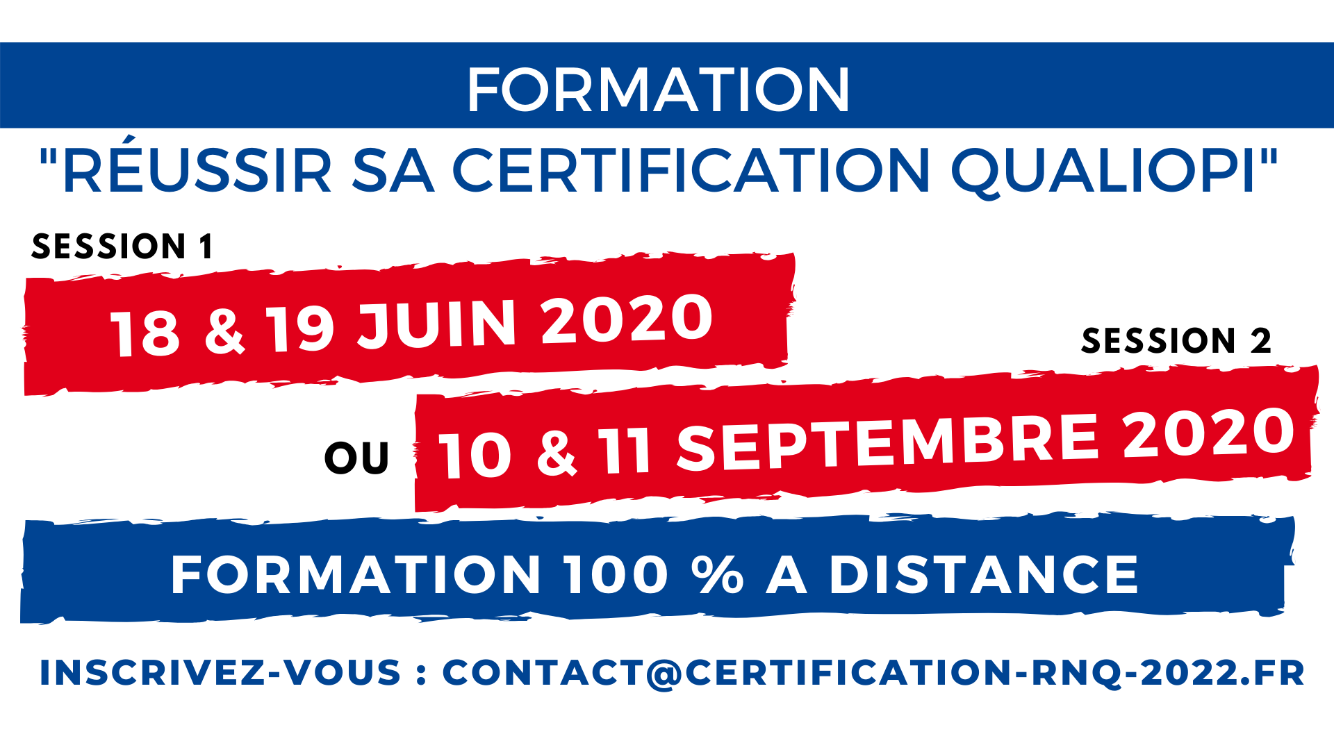 Formation Réussir QUALIOPI Juin Septembre 2020