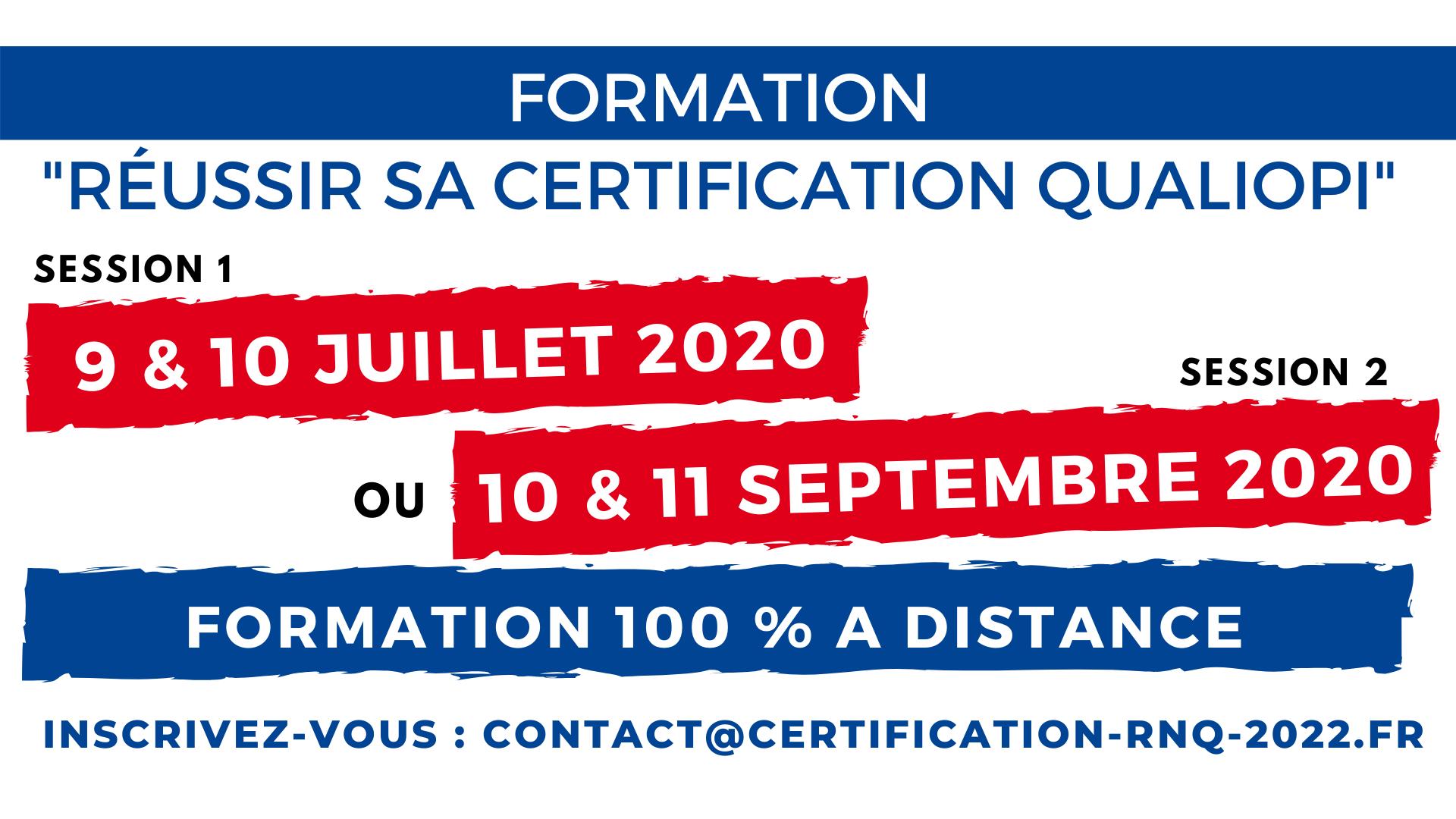 Formation Réussir QUALIOPI Juillet 2020 (2)