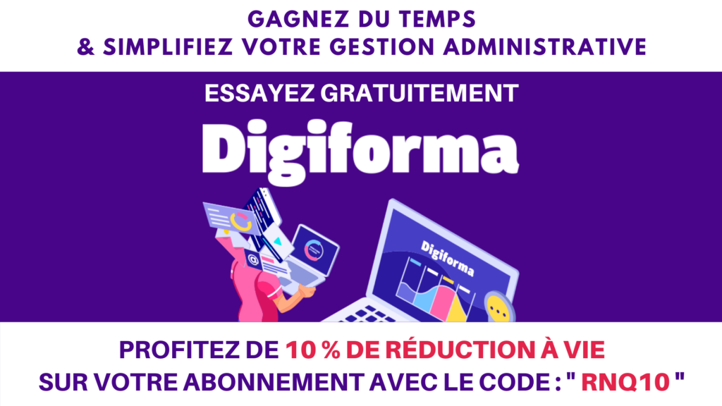 Digiforma 10 % réduction à vie - Certification RNQ QUALIOPI